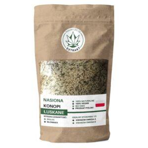Nasiona łuskane z konopi są nazywane super składnikiem. Nazywane są tak ponieważ posiadają idealną proporcję kwasów omega-6 do omega-3 oraz zawartość 10 aminokwasów.