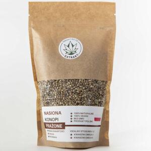 nasiona prażone z konopi